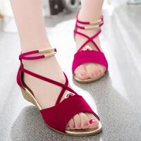 夏季平跟凉鞋女鞋子韩版夏童少女软底平底初中生高中生学