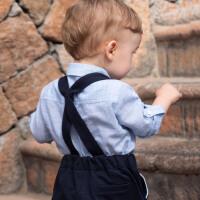 davebella戴维贝拉小童衬衫男童衬衣秋季新款宝宝上衣DBX13310-1