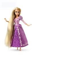 儿童女生巴比娃娃套装白雪长发美人鱼公主系列玩具生日礼品 12关节约30厘米