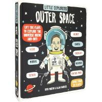 英文原版绘本 Little Explorers Outer Space 小探险家流浪 纸板翻翻书 地球太空科普百科 宇