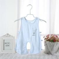 婴儿连体衣 宝宝哈衣夏季竹纤维纱布镂空连身衣连体裤
