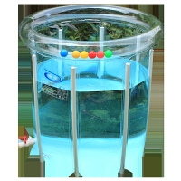 折叠合金支架式透明婴儿游泳池宝宝游泳桶