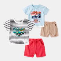 男童休闲套装夏装潮儿童T恤短裤外穿两件套