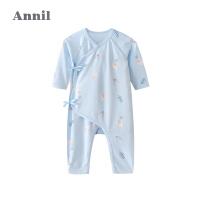 【2件4折价:67.6】安奈儿童装0-6月婴儿秋冬装新生婴儿儿连体衣宝宝哈衣纯棉衣服