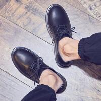 夏季潮鞋休闲皮鞋男正装英伦青年韩版潮流学生圆头黑色男鞋子