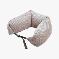 当当优品家纺 纯棉针织U枕 旅行枕午睡颈枕腰枕 薄粉