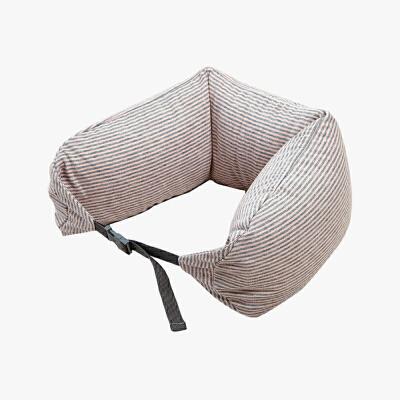 当当优品家纺 纯棉针织U枕 旅行枕午睡颈枕腰枕 薄粉当当自营 MUJI品牌代工