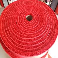 加厚丝圈地垫门垫进门迎宾门口入门脚垫pvc防滑塑料拉丝大红地qPP 红色 1.8米宽整卷18米