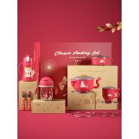 【满129减20】babycare儿童餐具套装圣诞元旦辅食碗宝宝保温水杯礼包注水吸盘碗新生儿礼盒 礼盒套餐 礼盒套餐