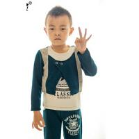 新款韩版时尚儿童服装假三件套  韩版卫衣套装童装