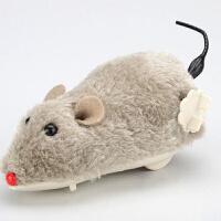 会跳的玩具 上链发条毛绒小老鼠 整蛊上弦耗子会跳跳摇尾巴宠物狗狗猫咪玩具 均码
