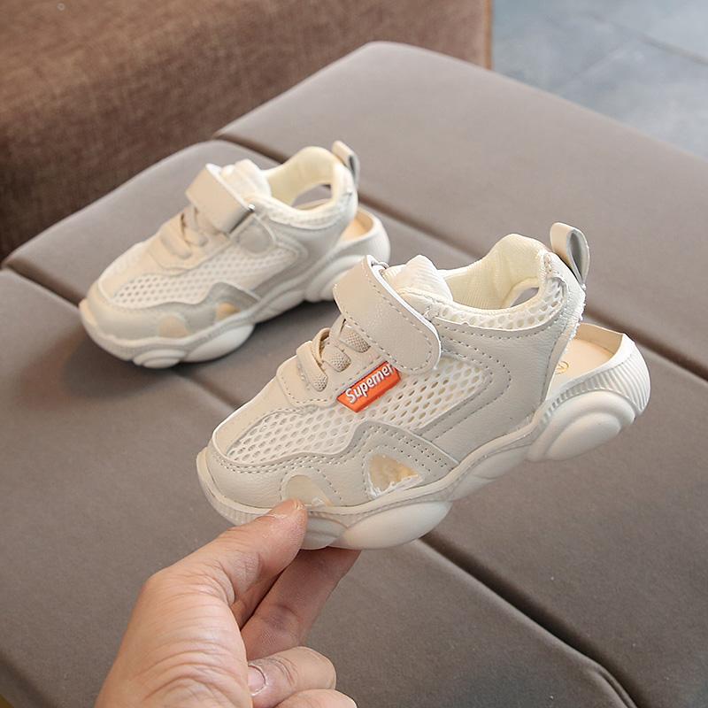童鞋儿童凉鞋1-3-5岁夏季新款男女童包头宝宝学步鞋网面透气鞋子2