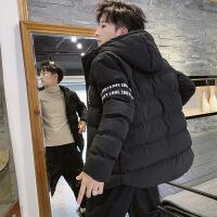 男士外套冬季2019新款韩版潮流冬天加厚冬装工装服 013黑色