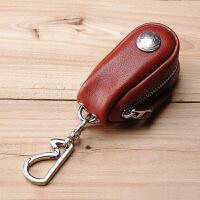 复古男女钥匙包真皮锁匙包腰挂头层牛皮汽车遥控器包大容量
