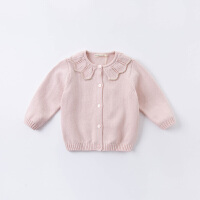 戴维贝拉宝宝开衫毛衣儿童线衫女童针织衫童装2020秋新款洋气纯棉