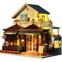 创意手工制作房子模型大别墅生日礼物女diy小屋咖啡屋馆