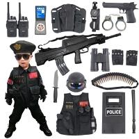 儿童电动玩具枪套装MP5男孩特警仿真道具 新年生日礼物