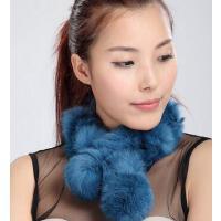 时尚个性韩国豹纹围脖兔毛围巾保暖加厚保暖加厚皮草女围脖女