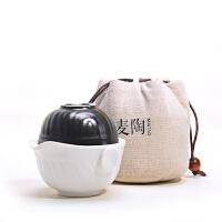 办公茶具套装便携手抓壶茶杯旅行紫砂快客杯一壶一杯