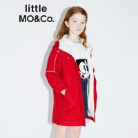 littlemoco秋季新品男童外套女童外套仿羊羔毛加厚保暖中长款外套
