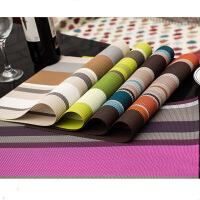 彩色条纹PVC特斯林餐垫 酒店餐垫 高档餐厅餐垫 颜色随机