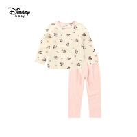 【2件3折后价:56.7元】迪士尼童装儿童上衣长裤家居服两件套秋冬新款宝宝女童内衣套装