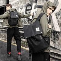 男士背包 双肩包休闲韩版时尚潮流青年旅行包大学生书包男电脑包