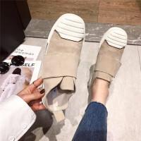 休闲鞋板鞋女2019春季新款时尚厚底贝壳头时尚女鞋学生百搭休闲鞋