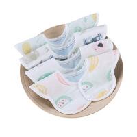 口水巾360度旋转婴儿吃饭防水纱布围嘴新生儿男女宝宝防吐奶围兜