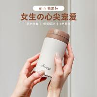 日本shinpur 象普精致迷你保温杯女可爱316不锈钢日系水杯便携小巧茶杯400ml