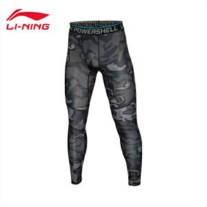 李宁健身裤男士训练系列速干凉爽紧身训练服针织运动裤AULL043