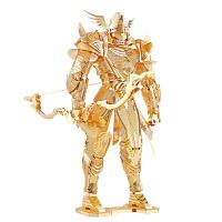 金属拼图模型凌弓骑士3D立体拼装玩具送朋友创意礼品 金色