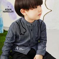 【秒杀价:153元】马拉丁童装男小童衬衫春装2020年新款帅气图案儿童长袖衬衫
