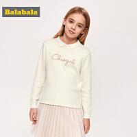 巴拉巴拉女童毛衣儿童打底衫2019新款春季童装中大童针织衫时髦女