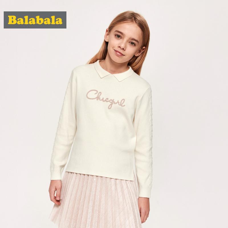 【3.5折价:83.65】巴拉巴拉女童毛衣儿童打底衫新款春季童装中大童针织衫时髦女