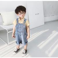 夏款儿童短裤宝宝牛仔背带裤夏装小男童裤子休闲裤