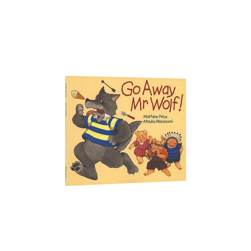 进口英文原版绘本 Go Away Mr.Wolf 走开,大灰狼先生 廖彩杏推荐书单 低幼儿童英语启蒙翻翻书 亲子睡前趣味读物图画正版书3-6岁