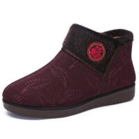 冬季布鞋女鞋老人棉鞋保暖加绒中老年妈妈鞋滑软底奶奶鞋