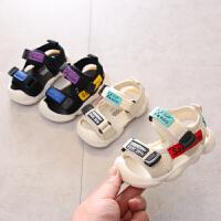 男凉鞋1-3岁夏季婴儿软底学步鞋2女小童防滑沙滩凉鞋