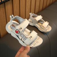 儿童凉鞋男童女童沙滩鞋字母魔术贴童鞋魔术贴中大童