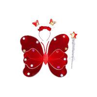 儿童背饰发光天使翅膀三件套小女孩的玩具翅膀地摊