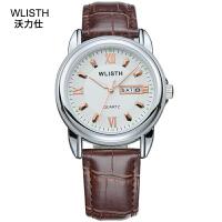 沃力仕手表男商务休闲日历手表防水钢带男士手表全自动非机械表