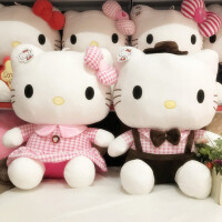 公仔凯蒂猫毛绒玩具KT猫压床娃娃情人节结婚礼物一对