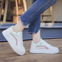 百搭小白鞋学生韩版运动鞋ulzzang休闲鞋原宿风厚底女鞋冬季系带 月色 M503K