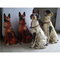 陶瓷斑点狗摆件 陶瓷大狼狗工艺品摆件,警犬,看见狗,镇宅招财 斑点狗70厘米
