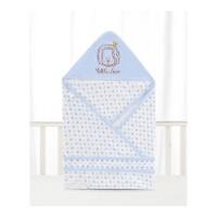 新生儿抱被 初生婴儿薄款包被抱毯被子襁褓包巾 婴儿浴巾ZQ93 蓝色