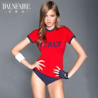 【全场包邮】 范德安(Balneaire)分体泳衣女 时尚保守温泉游泳衣
