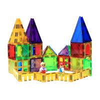 磁力构建片彩窗磁力片积木城堡拼装磁性片3-6-8儿童玩具男女孩