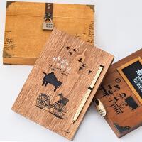 小学生韩版同学录 女古风木盒毕业纪念册女小清新2019新款带锁复古