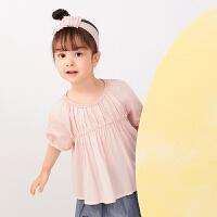 【秒杀价:135元】马拉丁童装女小童衬衫2020夏装新款洋气可爱娃娃衫短袖衬衫